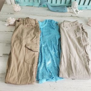 Lot of Girl's Pants and Top Size 12